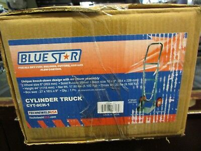 New Blue Star Cylinder Carttrolley 8 Wheels Welding Oxygen Acetylene Cyt-8ch-1