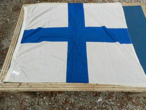 "Vintage Big Ship Cloth Flag  Letter   ""X""    2 1/2 ft X 4 ft"