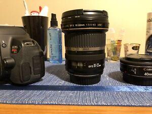 Canon t4i + lenses + recorder