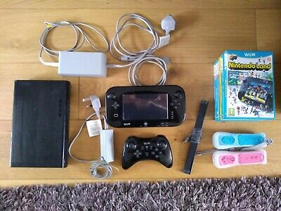 Used Nintendo Wii U Premium Pack 32GB Black  - inc 8 Games