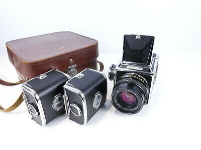 ZENITH 80 120 FILM 6X6 MEDIUM FORMAT CAMERA OUTFIT 80MM LENS HASSELBLAD COPY