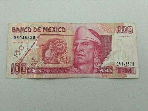 100 PESOS MEXICO BANKNOTE 1996 CRISP NOTE #520