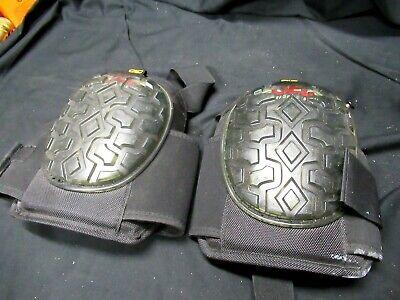 Pair Of Custom Leather Craft Gel Comfort System Knee Pads Black