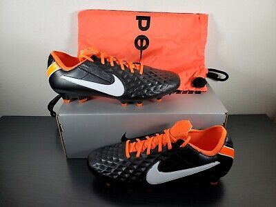 Nike Tiempo Legend 8 Elite IV FG Black/White/Total Orange CI7587-018 Size 13