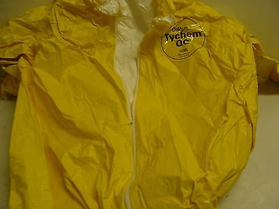 New Dupont Tychem Qc Coverall Size 2x Without Hood Open Leg