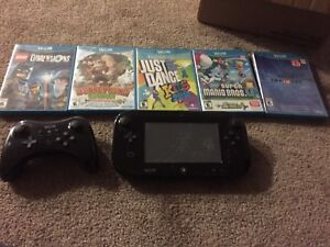 Wii U System w games and added controller