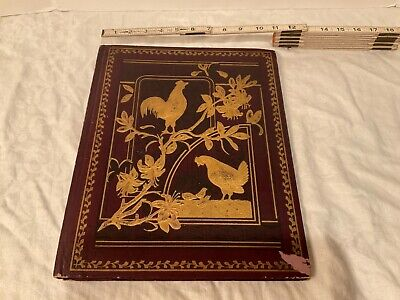 VICTORIAN  DIE CUT SCRAPBOOK 1893 1903 12 double pages Sunday school cards nice