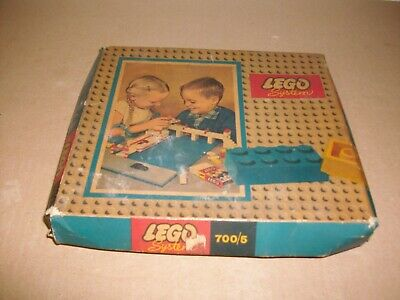 Vintage Lego set 700/5 building blocks with orginal box RARE 1960's!