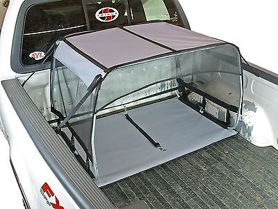 Truck Bed K9 Canopy Dog Shade Shelter Kennel Crate Leash Ten