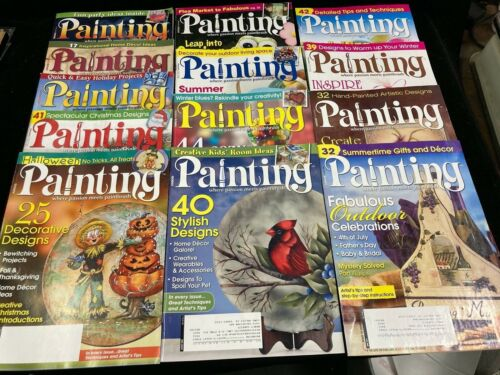 PAINTING WHERE PASSION MEETS PAINTBRUSH, LOT 13 MAGAZINES, 2006-2010, W PATTERNS