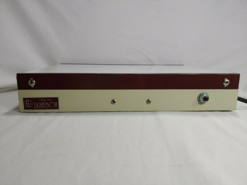 Vintage Logan Desk-Top light box Model 810/920 viewing surface tested