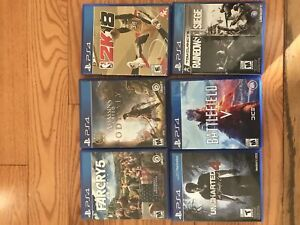 PS4 Games on sale Great condition