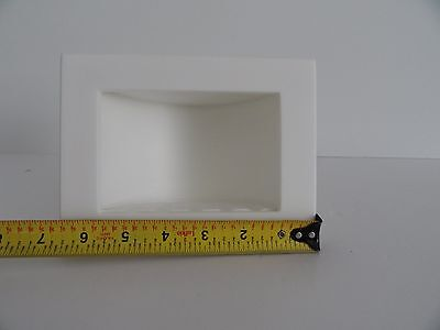 - TOP NOTCH PRODUCTS RECESSED SOAP DISH SOLID SURFACE CORIAN HI MACS WHITE NEW