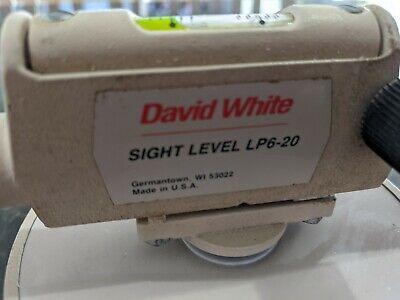 Surveyor David White Sight Level Lp6-20 With Original Case