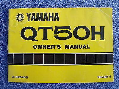 (YAMAHA QT50H QT 50 H DIRT BIKE MOTORCYCLE OWNERS SERVICE MANUAL LIT-11626-02-21)