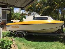 17ft Fiberglass Half Cabin, 70hp Evinrude, Fishing, Ski, Runabout Southport Gold Coast City Preview