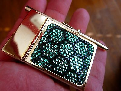 Authentic Judith Leiber Honeycomb bee green Crystal Mini Pad With Pen notepad