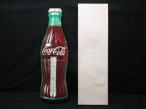 Vintage Coca Cola Donasco Bottle Thermometer Sign New Old Stock W/ Original Box