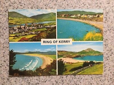 POSTCARD UNUSED IRELAND, RING OF KERRY, Co. KERRY-MULTI (4) VIEWS RING OF KERRY