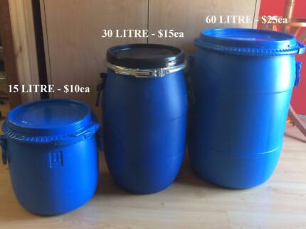Awesome Plastic Storage Drum With Lid   Camping, Food, Garden | Sheds U0026 Storage |  Gumtree Australia Willoughby Area   Chatswood | 1133741726