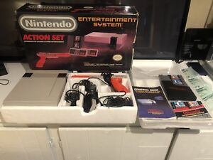 Original Nintendo NES Console COMPLETE in Box with Manuals