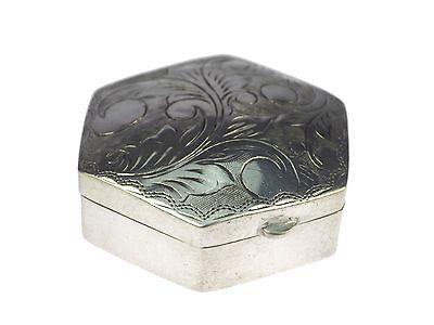 Art Deco 950 Sterling Silber florale Pillen Dose antik
