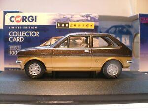 SUPERB NEW VANGUARDS 1981 1/43 FORD FIESTA MK 1 SANDPIPER 2 LOW CERT 14  RHD NLA