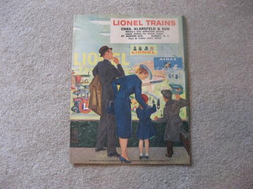 1956 LIONEL TRAINS DEALER PRIVATE CATALOG MINT