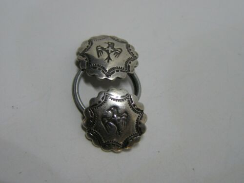 Vintage Bell Trading Company Sterling Silver Thunderbird Native Design Buttons