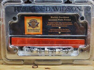 Harley-davidson Motorcycle License Plate Frame 7 1/4 x 4 1/4