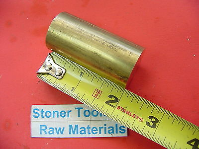 78 C360 Brass Round Rod 2 Long Solid .875 New Lathe Bar Stock H02 12 Hard