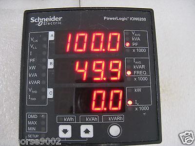 Schneider Electric Powerlogic Ion6200 M620ba0a00 Digital Electric Panel Monitor