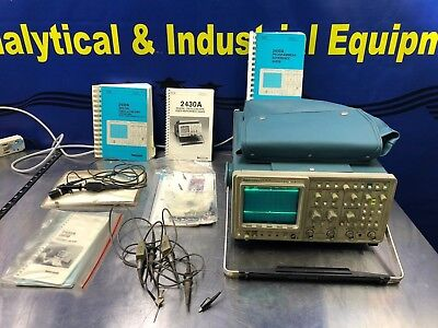 Tektronic 2430a Digital Oscilloscope Multi Channel Probes And Manuals