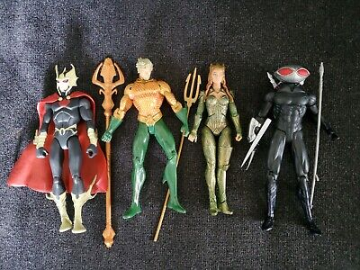 Dc Action Figures Lot Aquaman Figure Lot Black Manta Mera Ocean Master