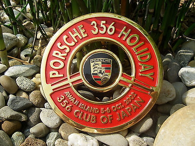 very rare PORSCHE 356 CLUB OF JAPAN - HOLIDAY AWAJI ISLAND 2002 Car Grille Badge