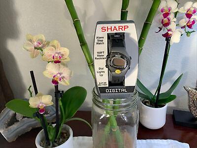 Original Vintage Sharp Digital Watch NEW In Case+Manual 165FT Water Resistant