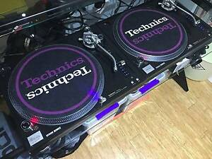 Pair Technics SL1210M5G Turntables w/ Roadcases & Decksavers Byron Bay Byron Area Preview