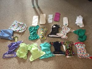 Cloth diapers - mix of new and used