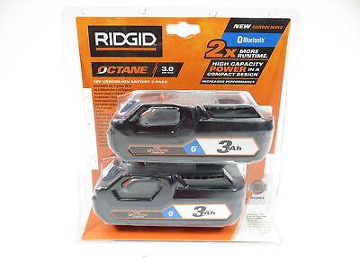 Ridgid Ac803 18-volt Octane Bluetooth 3.0 Ah Battery 2-pack