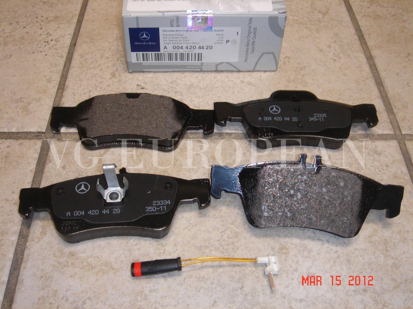Mercedes W221 S-Class Genuine Rear Brake Pad Set,Pads w//Sensor S550 S400 S600 OE