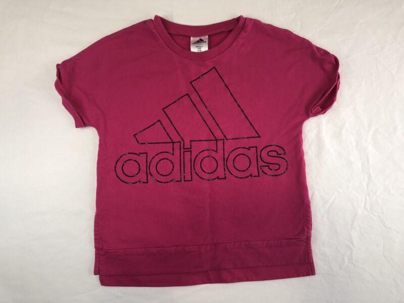 Adidas Girls Sport Sweater Pink Short Sleeve Size 14 (L)