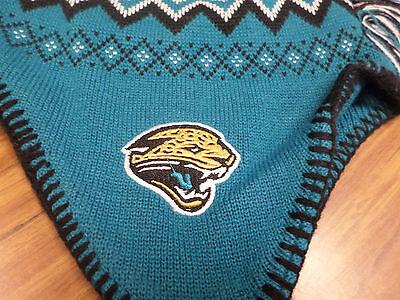 NFL Team Apparel Jacksonville Jaguars Mohawk Tassel Knit Beanie Hat -  NWT