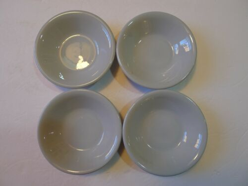 "Vintage Buffalo China Blue Lune 4-3/4"" Fruit Dessert Bowls Set of 4"