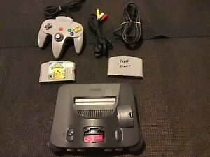 2 games, N64, cords, 1 controller