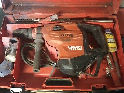 Hilti Te 70-atcavr Corded Heavy Duty Rotary Hammer Drill Demolition W Bits
