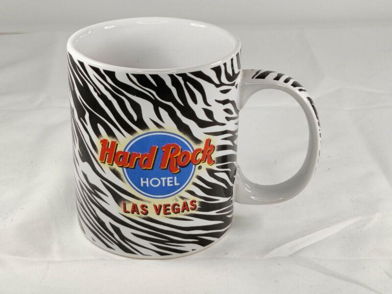 Hard Rock Hotel Las Vegas Coffee Mug Zebra Print Cup Black White