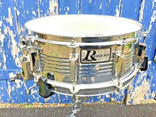 "Rogers R-380 Parallel Action 14""x5.5"" Snare Drum - IMMACULATE AND FULLY ORIGINAL"