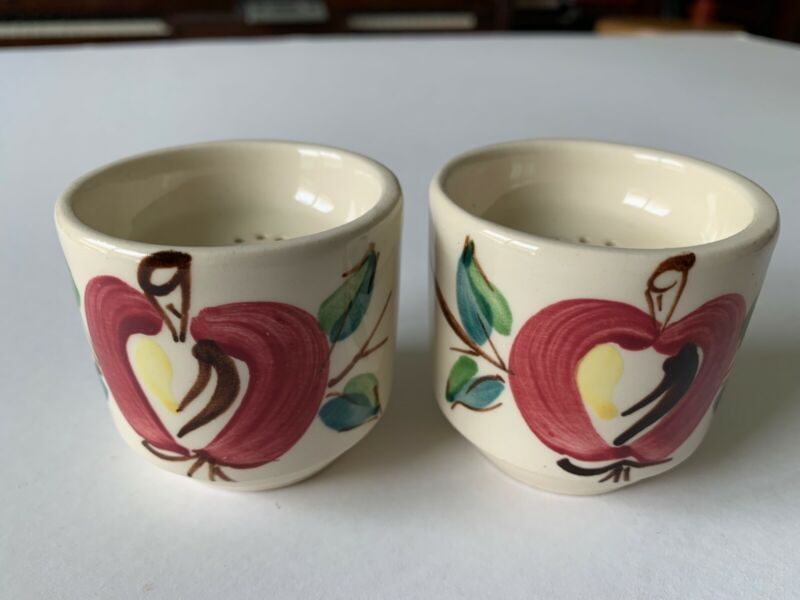 Purinton Pottery Stacking Apple Salt & Pepper Shakers