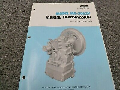 Twin Disc Mg-5062v Transmission Assembly Dimensional Specifications Manual