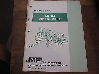 Massey Ferguson 63 Grain Drill Parts Manual